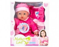 Mother love doll + clothes pink B/O