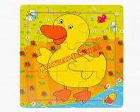 Puzzle drewniane kaczka