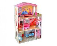 Domek drewniany dla lalek z windą